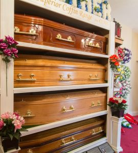 Showroom with Coffins